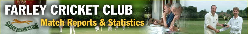 Match Reports and Statistics at Farley Cricket Club